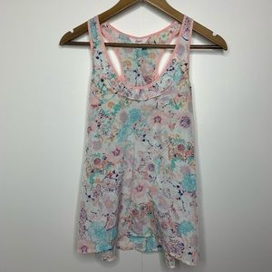 Candie's Floral Sleeveless Blouse